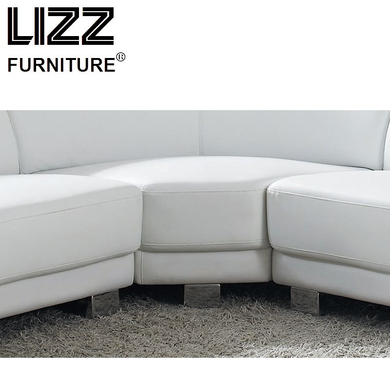 White Best-Selling Brief Casual Chair Leather Sofa Home Furniture