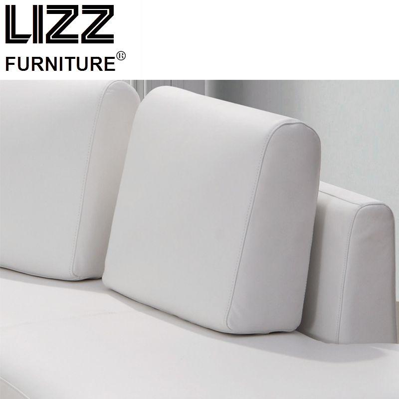 Living Room Furniture Half Round Circle Italian Leather Sofa
