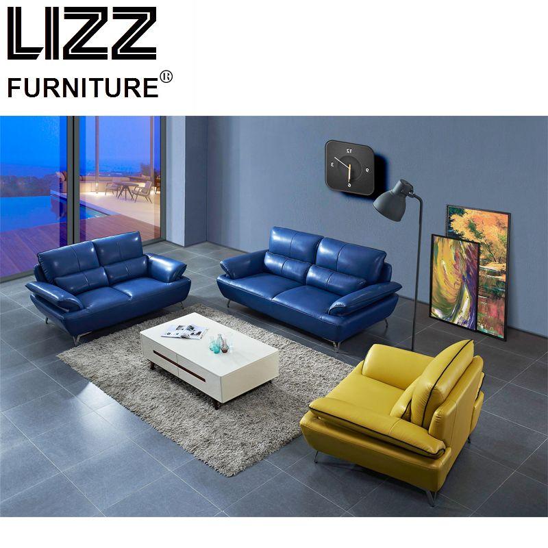 Italian Modern Genuine Leather Heavy-Duty Sofa Loveseat