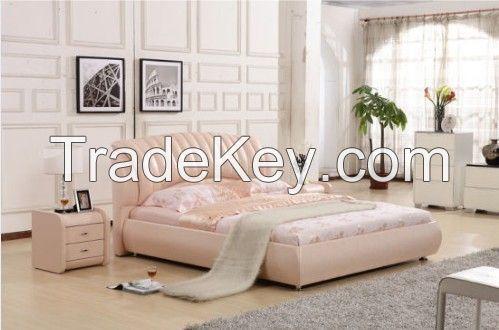 Genuine Leather Bed Lizz Furniture
