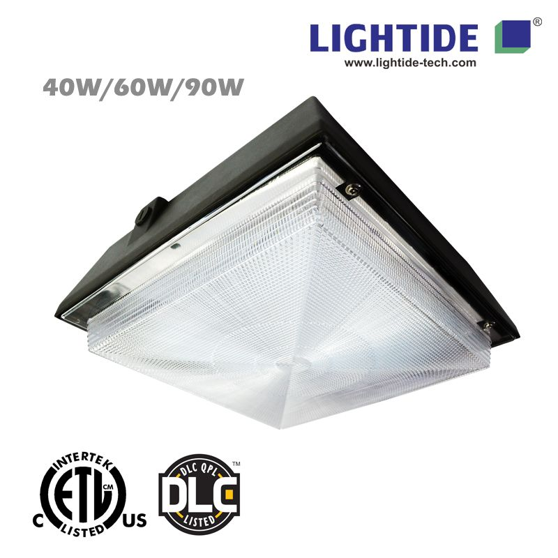 DLC Qualified LED Canopy Light Fixtures, 90W, 5 Years Warranty