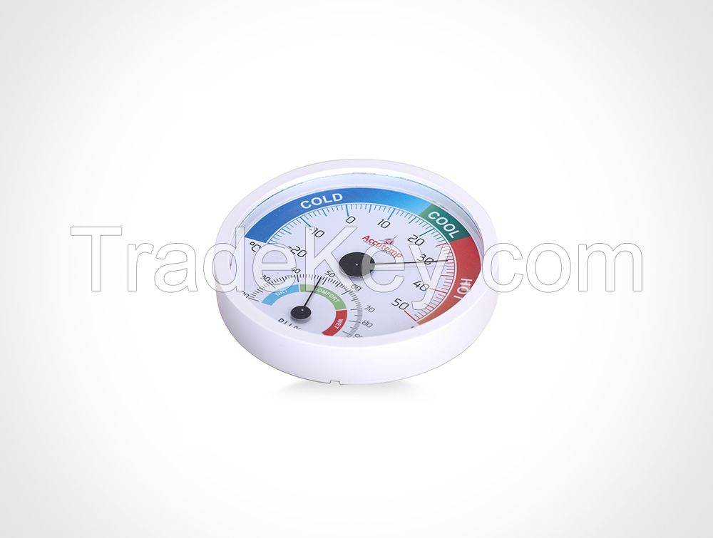 Big Dial Wall Mounted Thermometer & Hygrometer