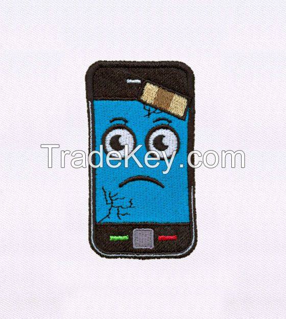 BAN AID PLASTERED MOBILE PHONE EMBROIDERY DESIGN