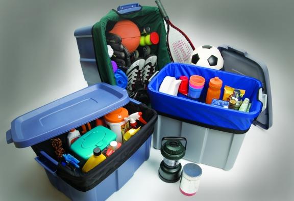 Camping gear organizer