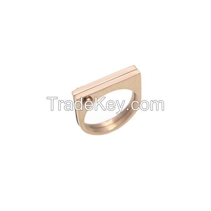 Rose Gold D Ring