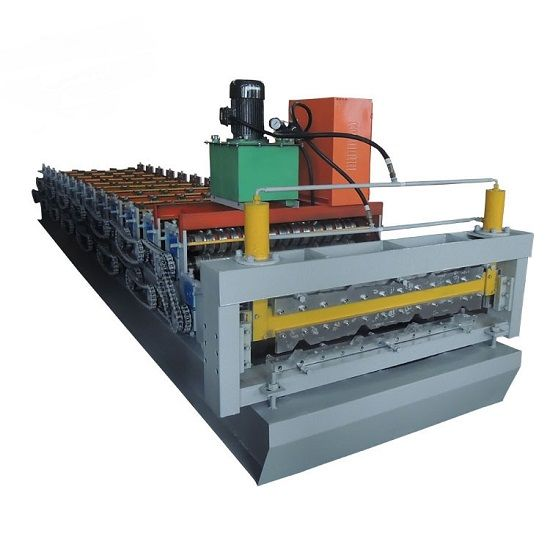 economical corrugated double function metal roofing sheet cold roll forming machcine price