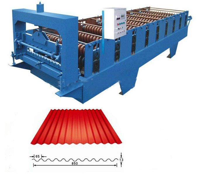 Color Steel Corrugated Profile Roof Panel Roll Forming Machine price