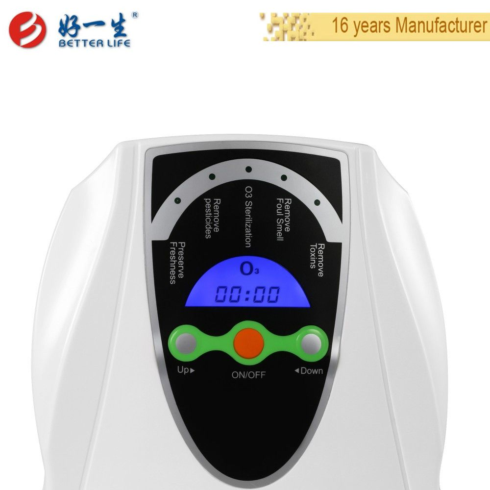 Portable home ozone generator for fruits and vegetables