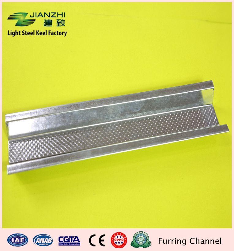 China leading factory oem 30*22*0.4mm galvanized light steel keel furring channel