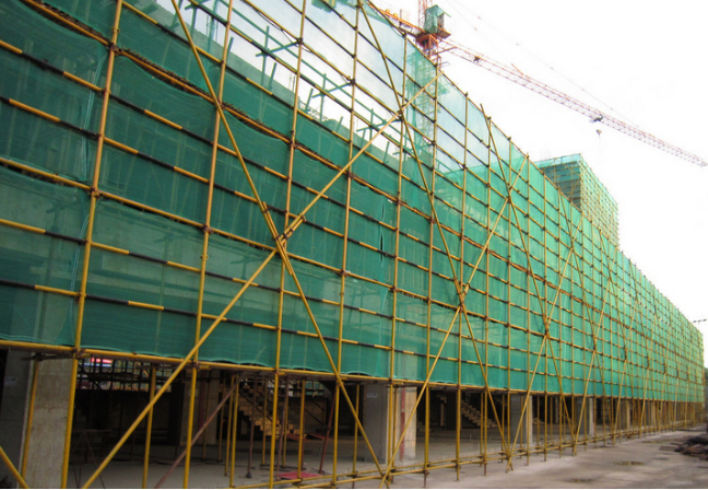 Green HDPE Scaffold Construction Safety Net