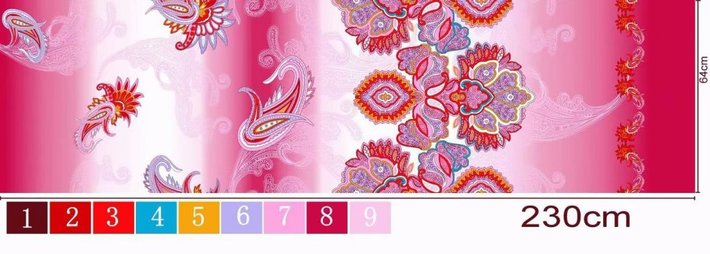 export quality 100%polyester printed fabric for bedsheets home textile,floral design