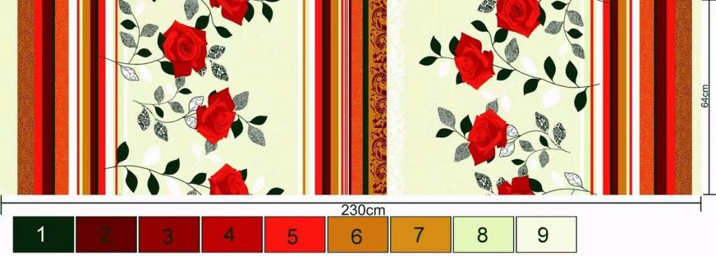 export quality 100%polyester printed fabric for home textile