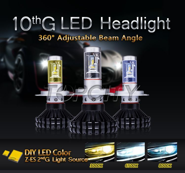 Factory High Quality G10 H8/H9/H11 60W LED Headlight