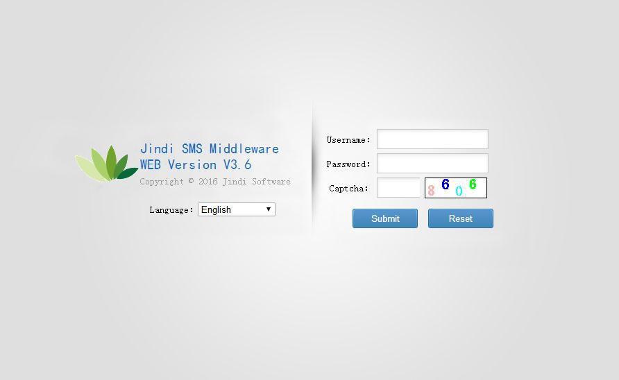 JINDI SMS MIDDLEWARE WEB VERSION
