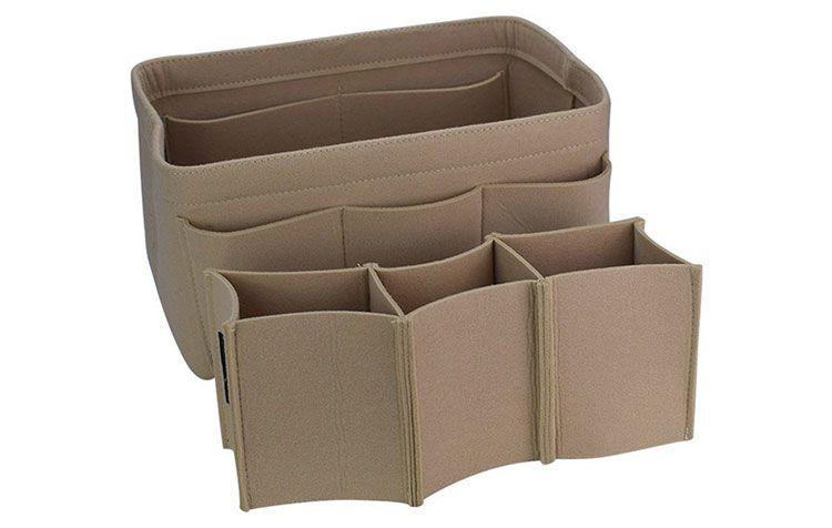 Felt Container Cosmetic Bag Organizer Storage Box Bag Organizing Hand Bag Makeup bag Thanksgiving Gift