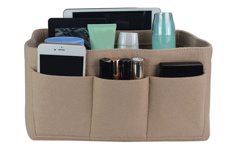 Felt Container Cosmetic Bag Organizer Storage Box Bag Organizing Hand Bag Makeup bag Thanksgiving Gift