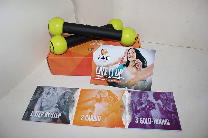 Yoga Dvd *ZUMBA GOLD LIVE IT UP 3DVD With Toning Stickers