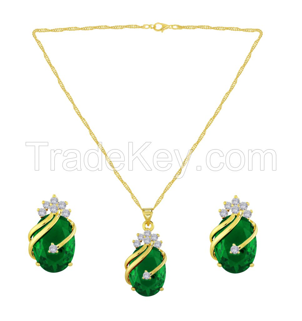 Jewel Set  ( One Pendent with chain and two earrings )