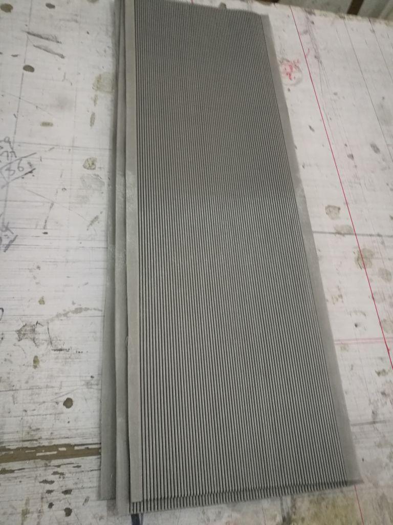 316L Stainless Steel Sintered Fiber pleated Felt / pleated fiber felt filter / pleated filter