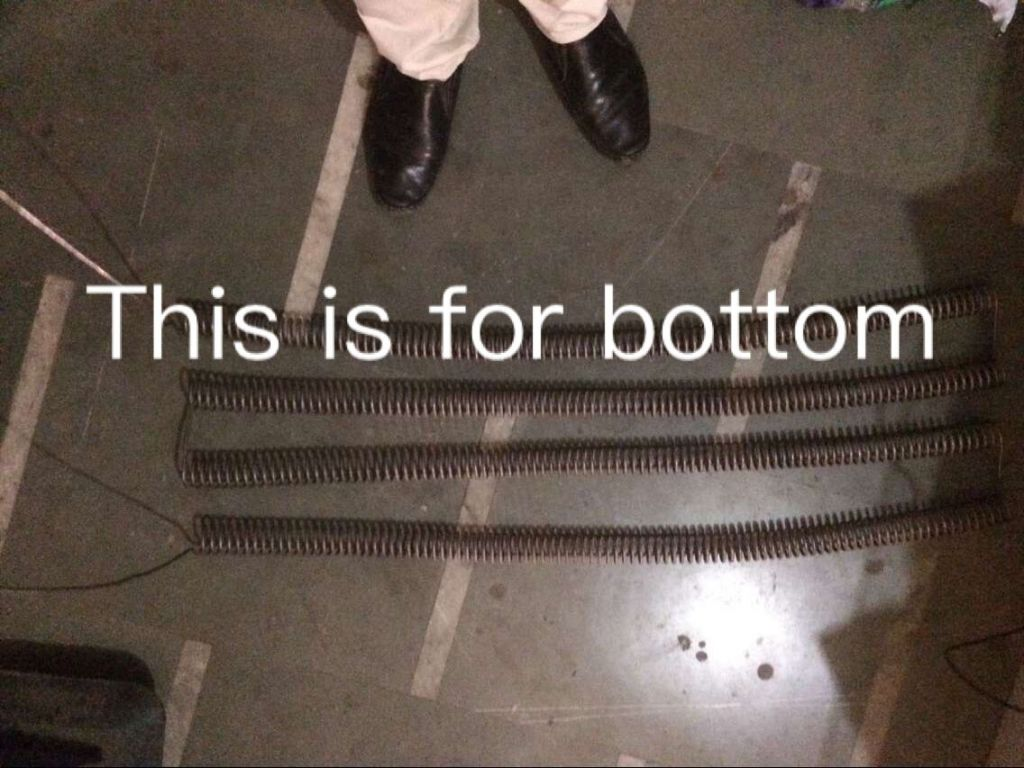 heating coil for glass tempering furnace