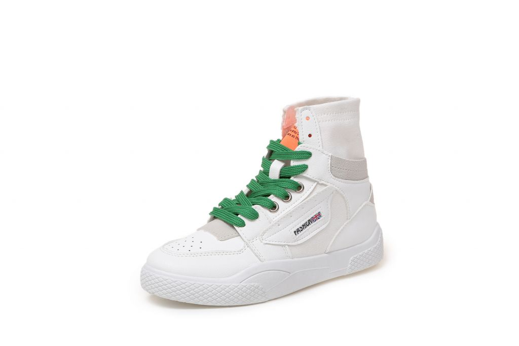 PU upper anti-slip outsole fashion ladies high collar sport shoes and boots women top end sneakers