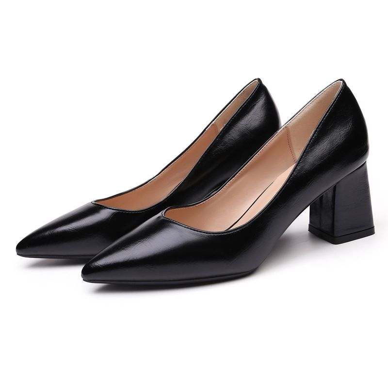 latest design attend formal events generous contracted pu upper material women's dress shoes