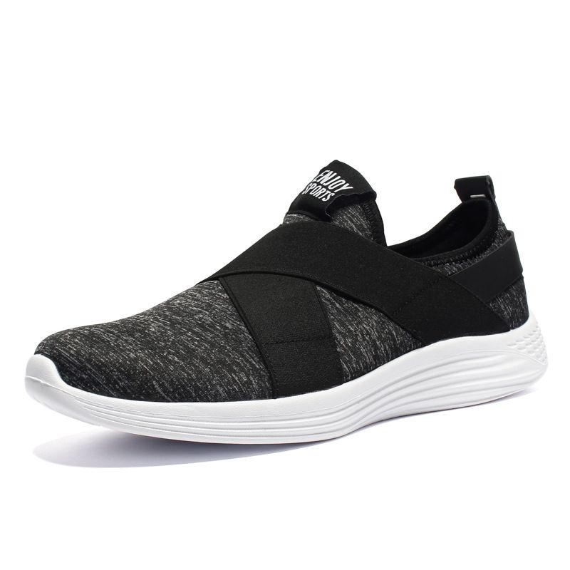 prevent slippery wear-resisting heel protection casual sport shoes men mesh sneakers