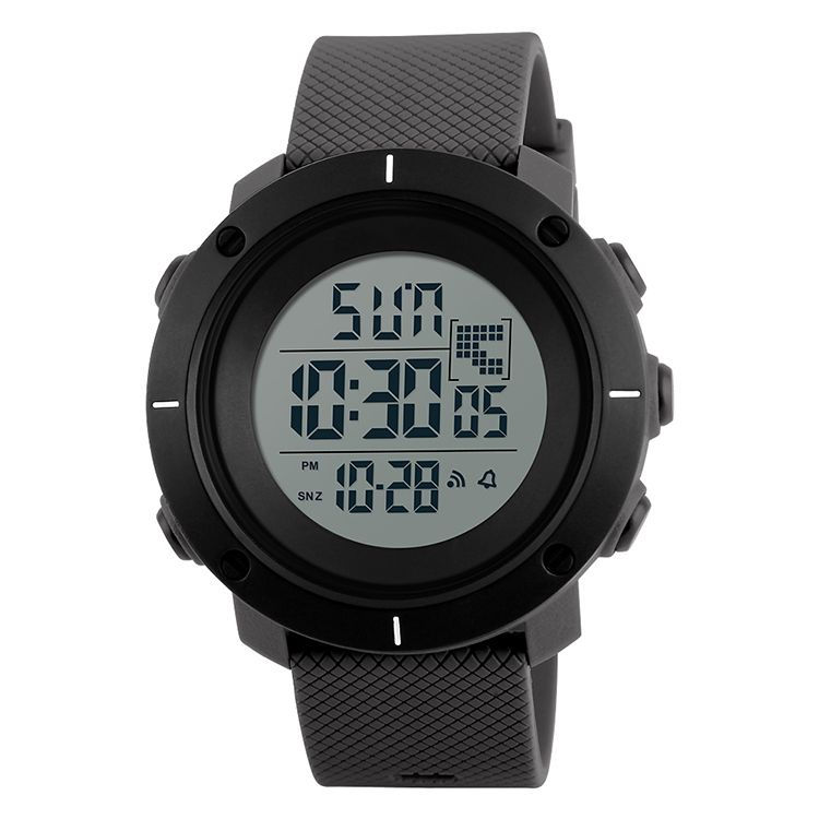 Alibaba hot sale saat black color simple design water resistant sport watch digital wrist watch
