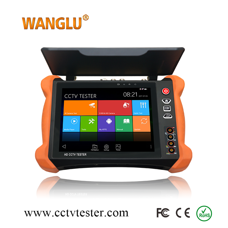 2K Retina display WIFI CCTV camera Tester 4K H.265 IP /CVBS/8MP TVI /5MP AHD/8MP CVI /EX-SD