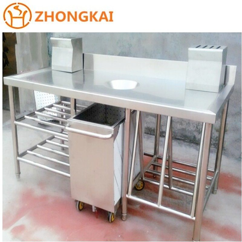 hotel restaurant commercial kitchen stainless steel worktable