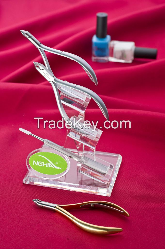 CUTICLE  NIPPER SINGLE SPRING, LAP JIONT, STAINLESS STEEL