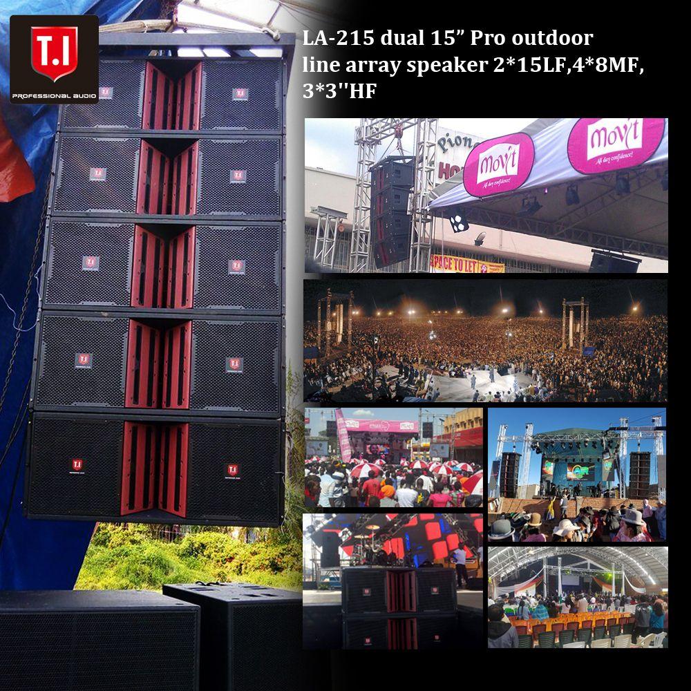 Pro outdoor stage Line array speaker dual 15''