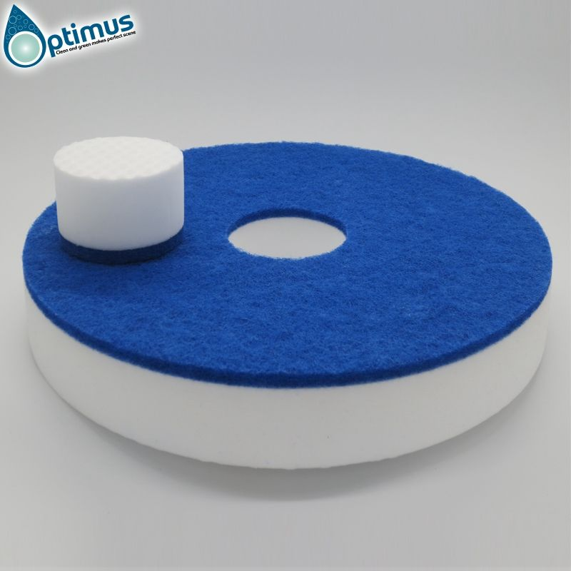 White Magic Floor Pad Eraser Sponge round melamine floor sponge for machine