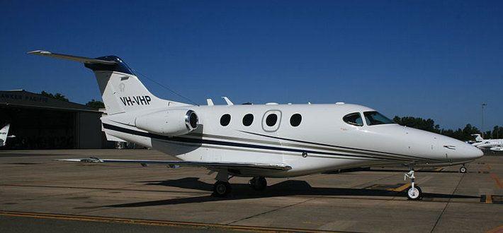 used white Beechcraft aircraft