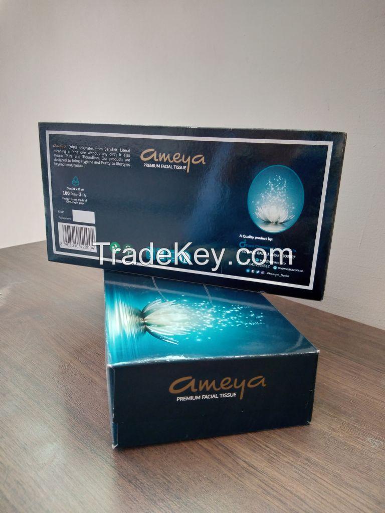 Ameya 100 PULLS Premium Facial Tissue