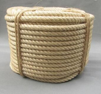 Natural color 3 strand twisted sisal rope 6mm