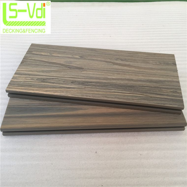 surface shielded wood plastic composite decking wooden floor wpc panel board