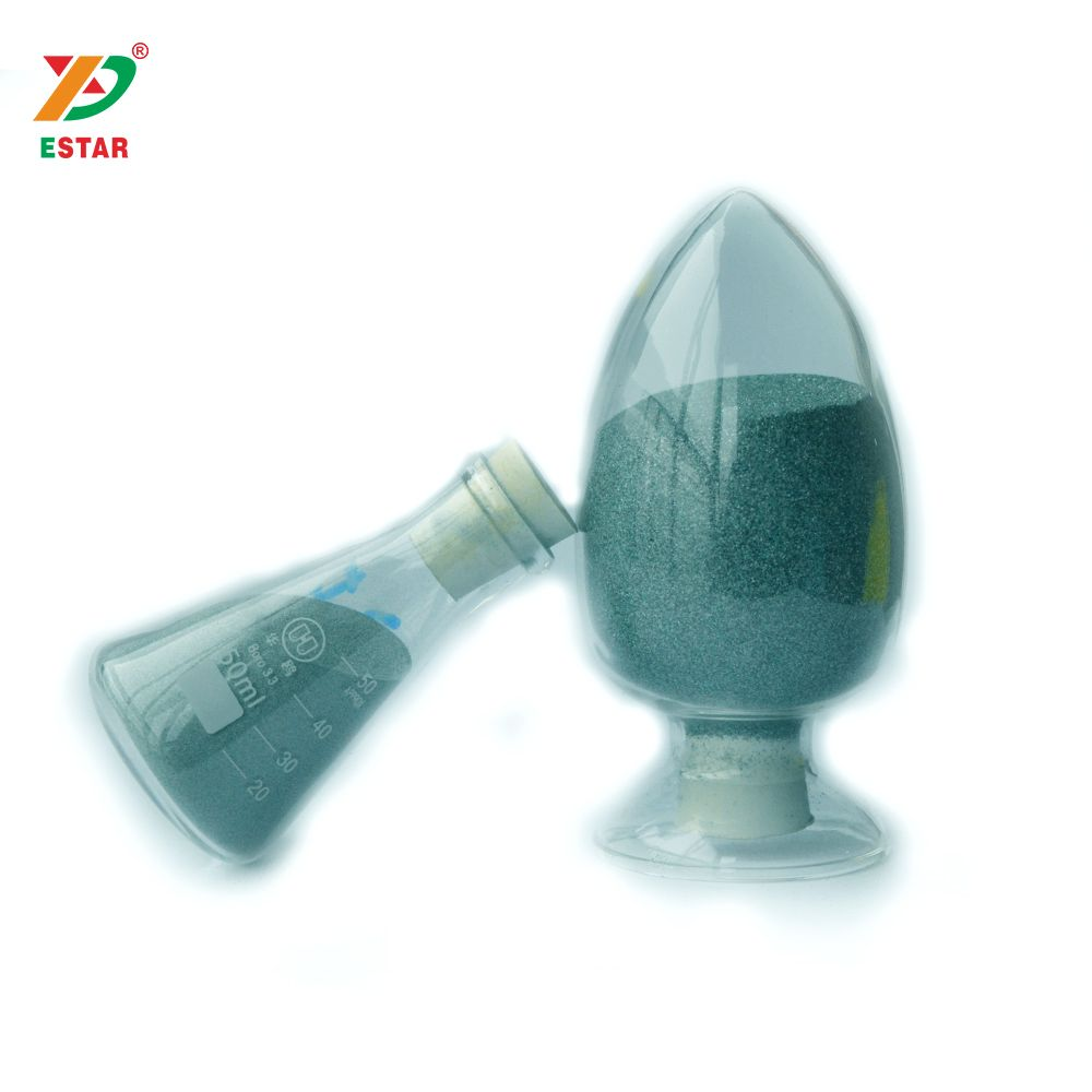 Green silicon carbide powder grits