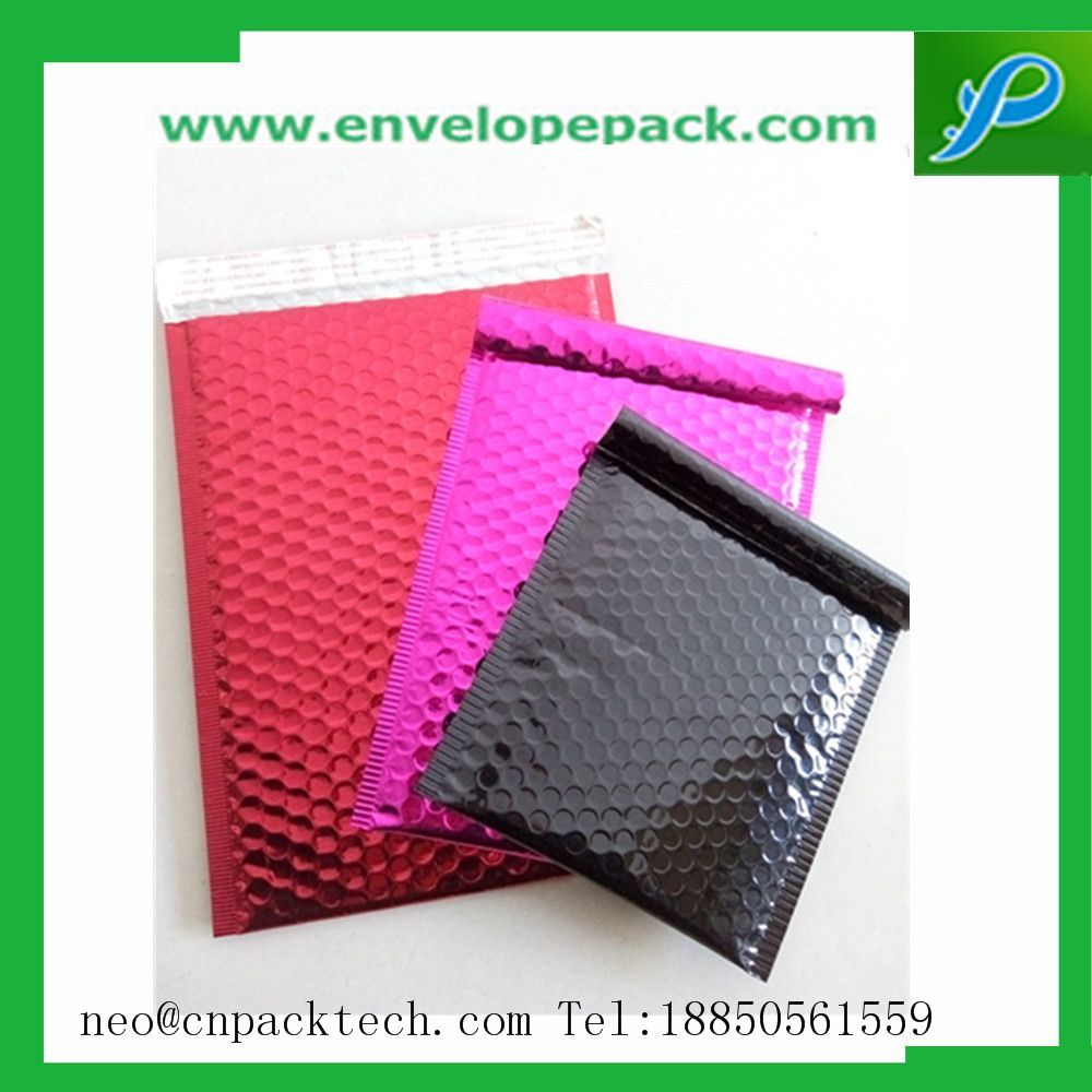 Metallic Bubble Padded Envelopes With Customized Pringting, Size And Color