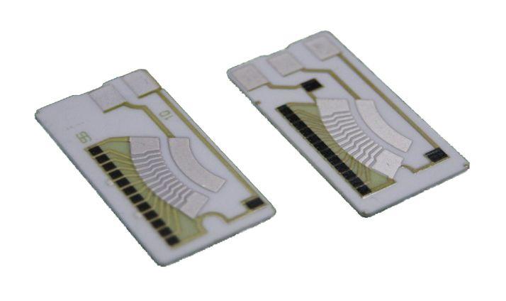 Ceramic resistor board for motorcycle fuel level sensor