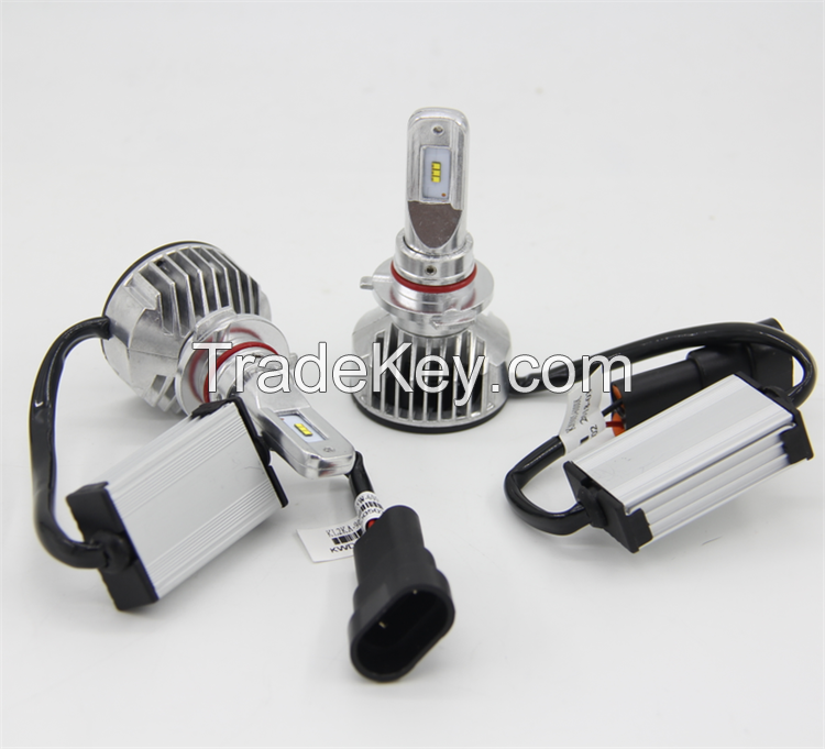5000LM 6300K Pure White H1/H7/9005/9006 LED Auto Headlight Car LED Headlamp