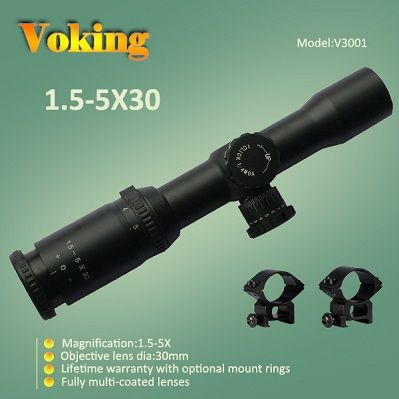 Illuminated Riflescopes, 1.5-5X30 magnifier scope with your own APP