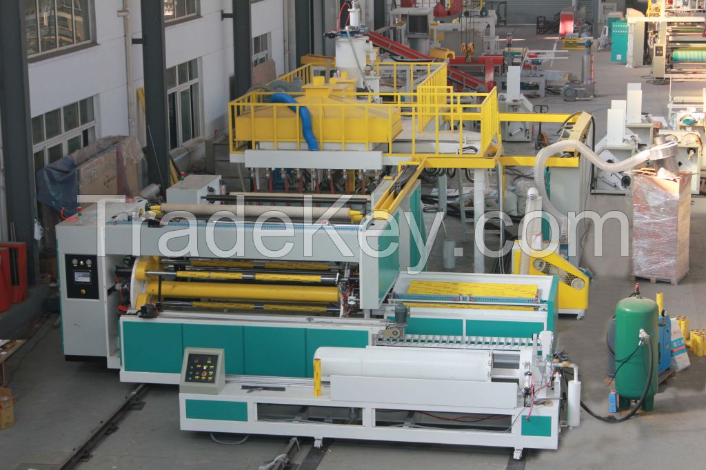 pvc cling film making machine, pvc food packing film extruder, stretch pvc cling film production line