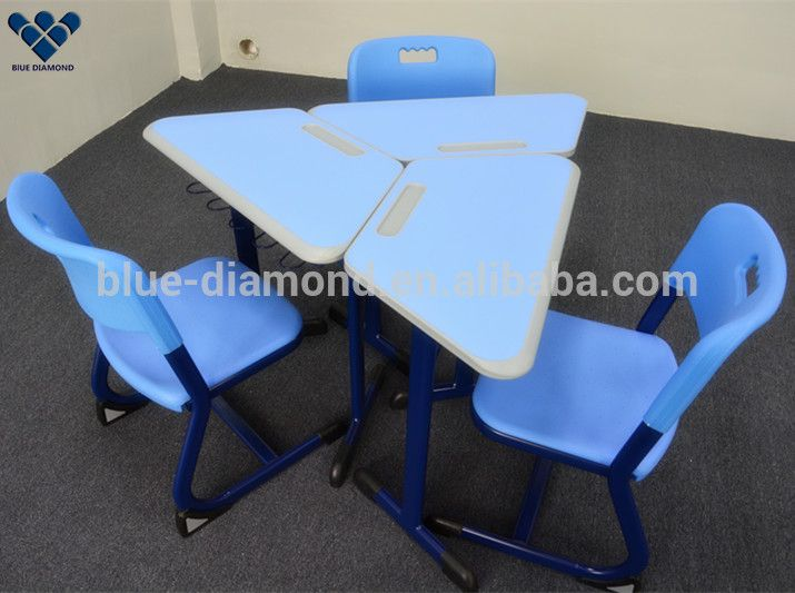 Modern standard size of school children table desk and chair set