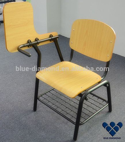 Wooden school study conference training desk chair furniture set