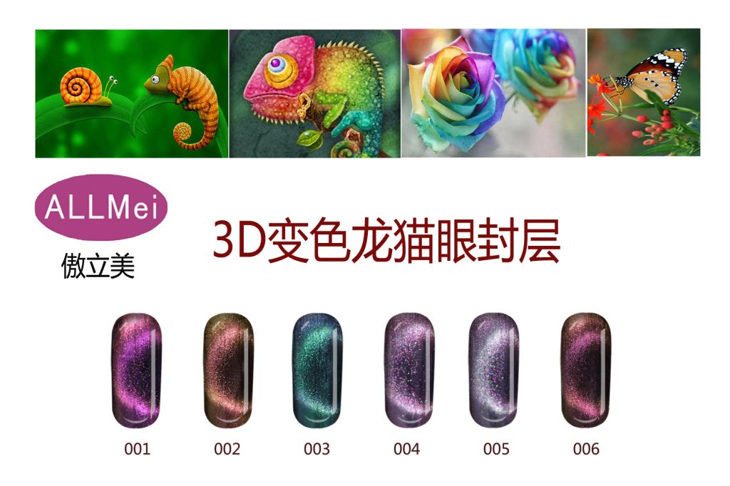 NEW COLORS Metal Chameleon Colors Change Color Magnetic 3D CAT EYE GEL NAIL POLISH