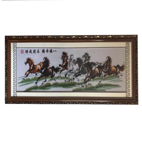 Home decoration handmade emboridery cross stitch of lucky horse