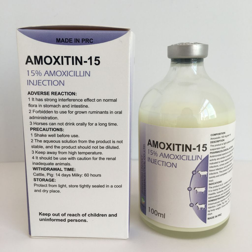veterinary medicine injection fllying high 15% amoxicillin suspension
