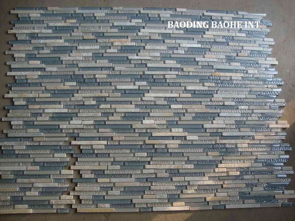 glass blended stone mosaic