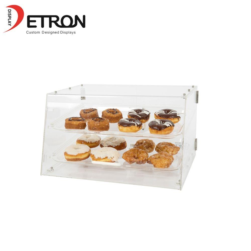 Bread Bakery Display Box Acrylic Bread Display Show Case